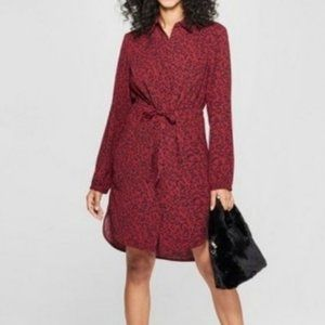 A New Day Classic Animal Print Dress Small
